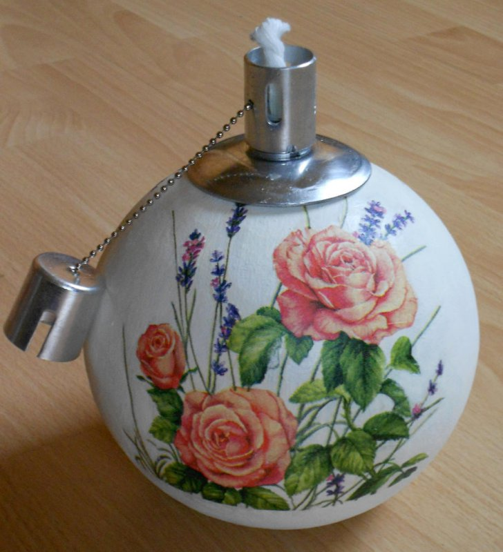 romantische Kugelfackel Rosen u.Lavendel