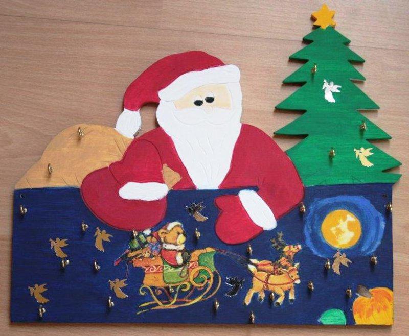 Adventskalender Rentiere und Weihnachtsmann