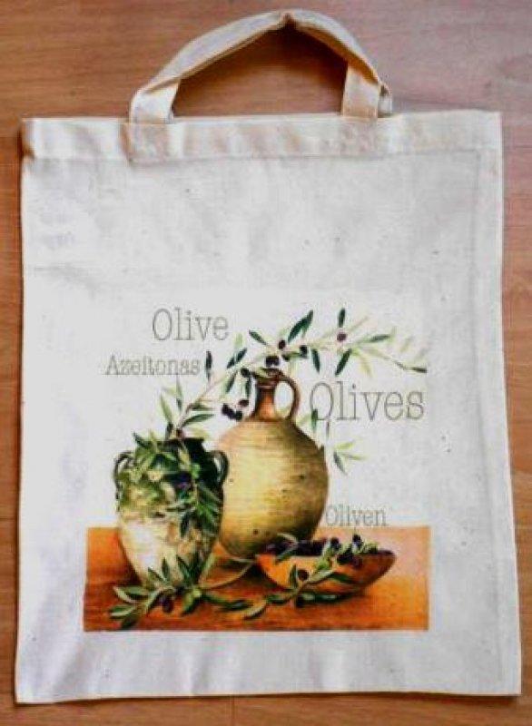 wunderschöne Baumwolltasche Oliven - Bella Italia