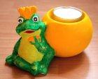 süßer Teelichthalter Frosch