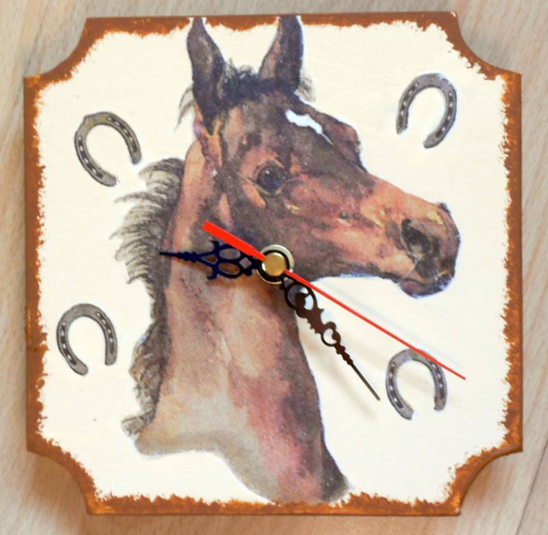 wall clock horse