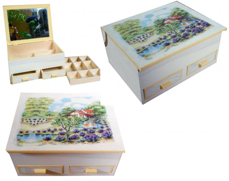 romantisches Schmuckkästchen Provence - Lavendelfelder