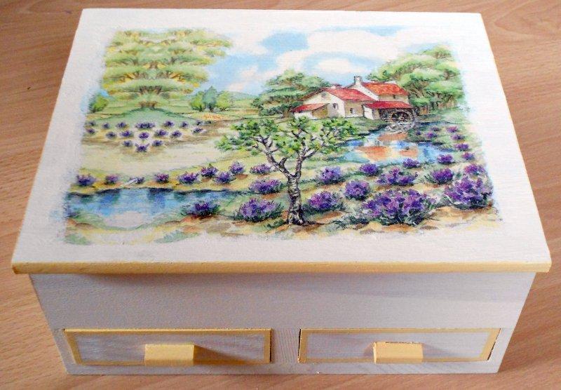 romantic  jewelery case provence lavender fields
