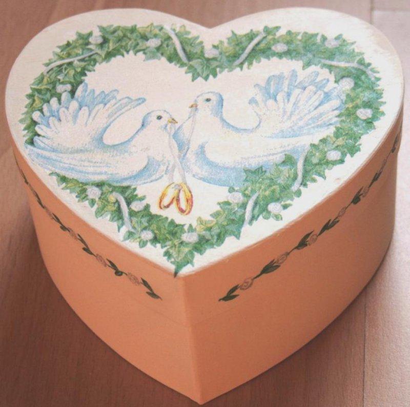 Herz Ringschachtel Tauben