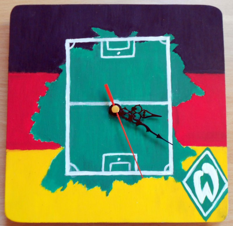 great football wall clock germany