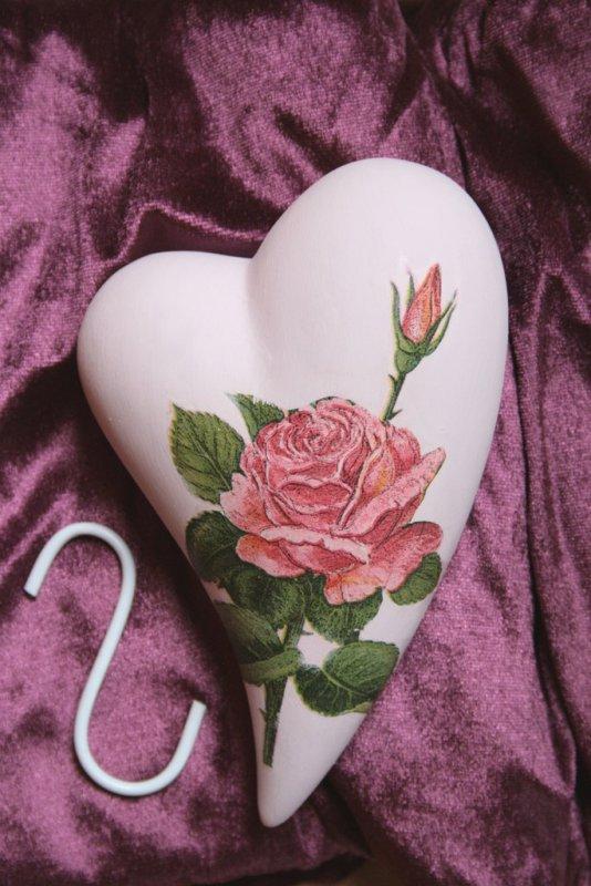 romantischer Herz Heizungsluftbefeuchter Rosen
