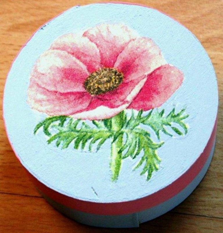 beautiful wooden gift box anemone