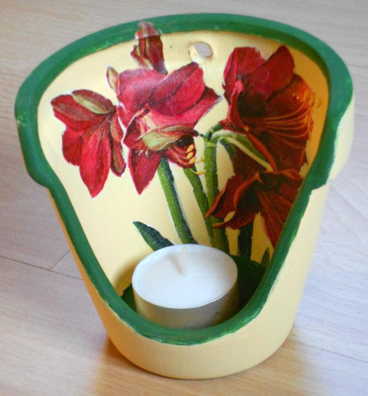 wonderful tealight holder amaryllis