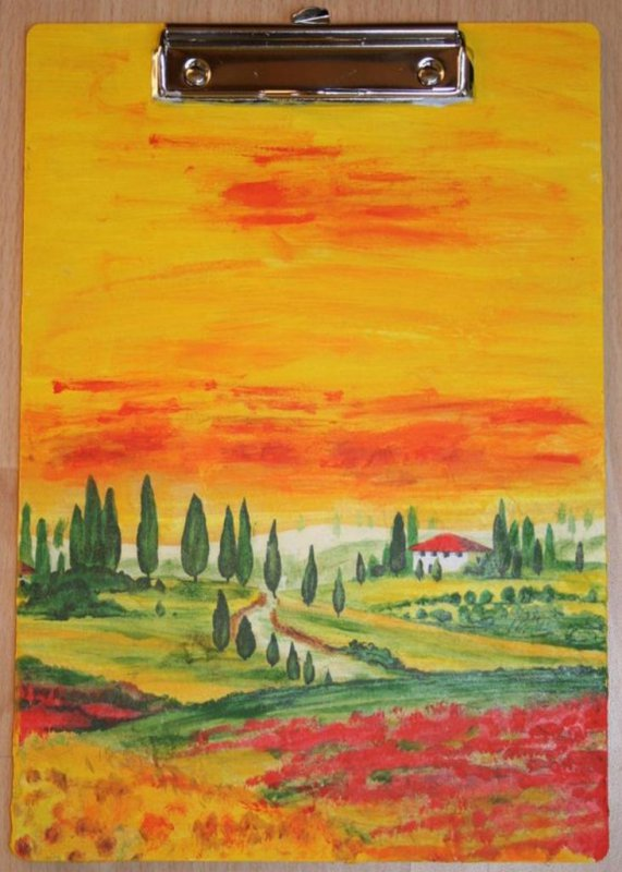 romantic clipboard Toskana
