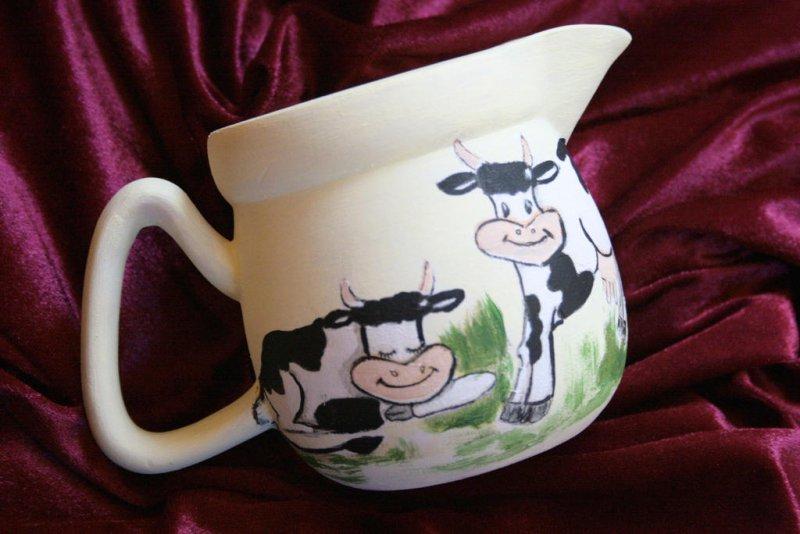 cute milk jar funny cows