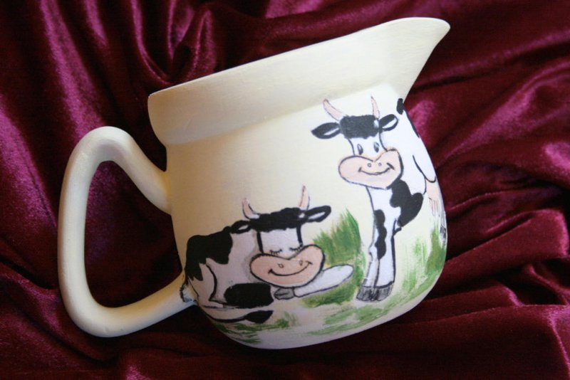 cute milk jar funny cows