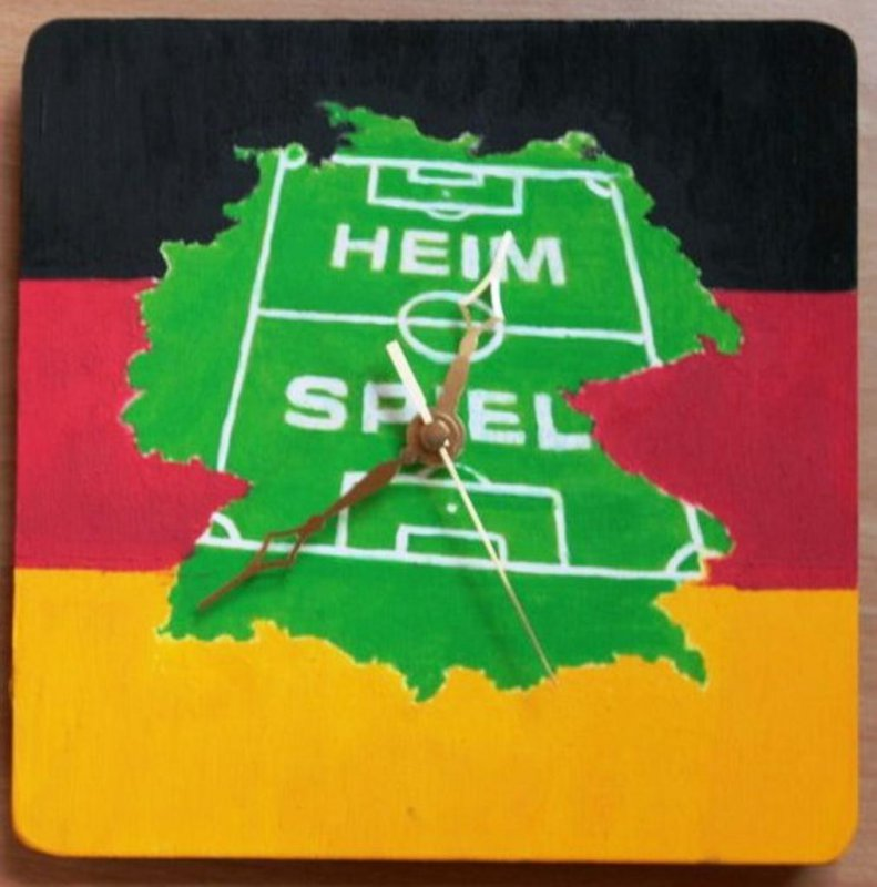 wonderful football wall clock goal