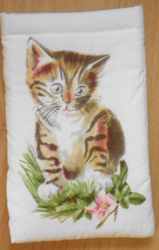cute case for eyeglasses cat within flowers