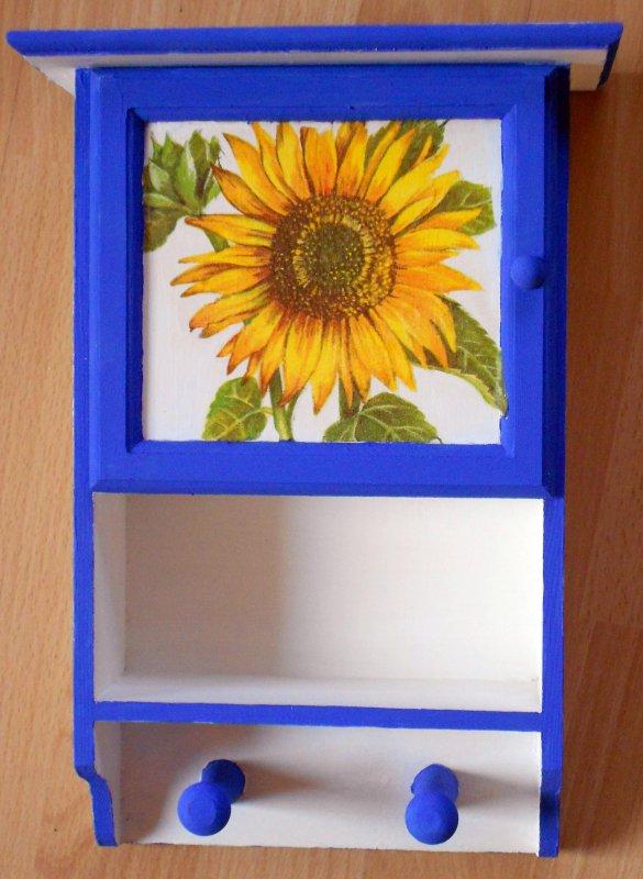 Hängeschränkchen Sonnenblume