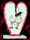 romantische Herz Tischuhr Giraffen Familie - True Love