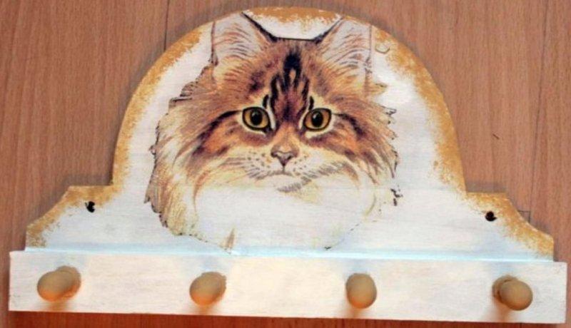 Handtuchhalter / Garderobe wunderschöne Katze