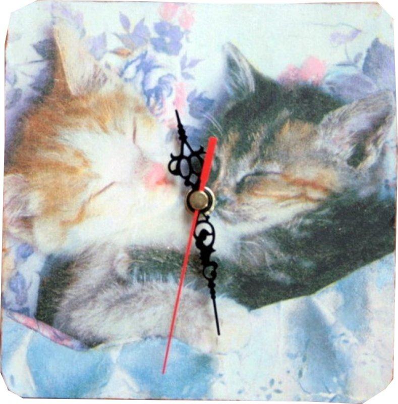wunderschöne Wanduhr Katzen