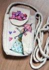 hübsche Baumwolle Handytasche Elfe mit Herzen