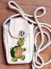 lustige Baumwolle Handytasche Fussball Schildkröten