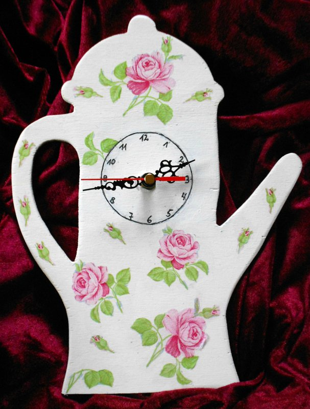 nice kitchen wall clock coffee pot with roses