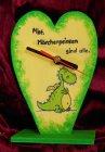 lustige Herz Tischuhr Drachen - Märchenprinzen sind alle