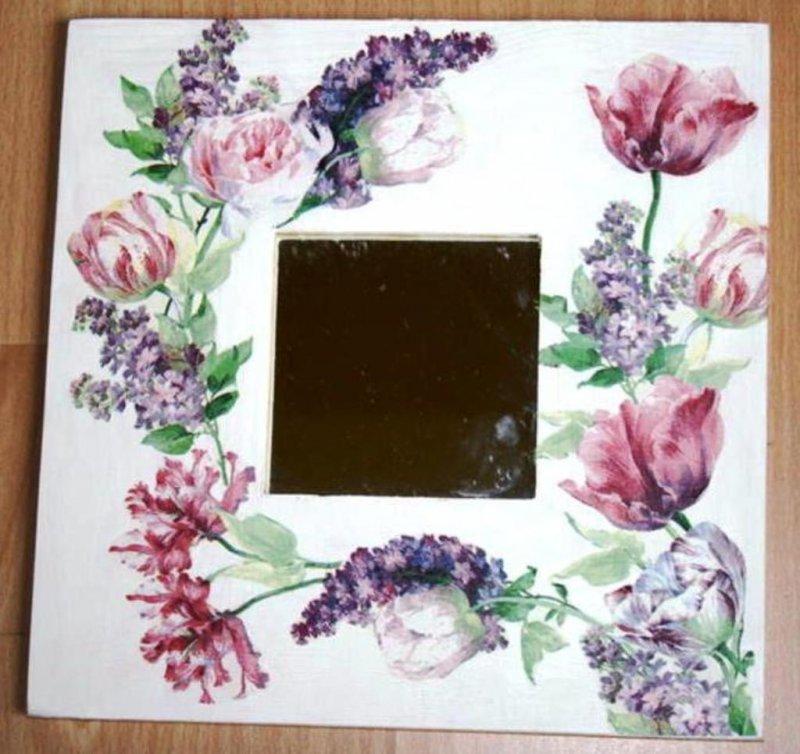 wunderschöner Spiegel Blumen Traum