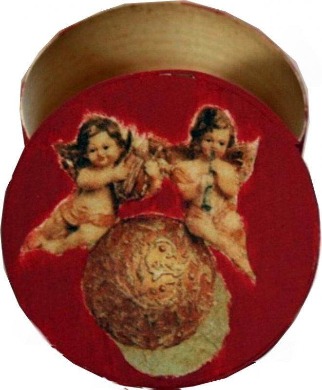 Dose / Geschenkbox Engel auf einer Kugel