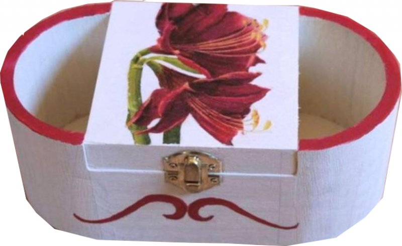 elegante Stifte - bzw. Utensilobox Amaryllis