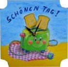 Küchen Wanduhr lustiger Toaster - Schönen Tag