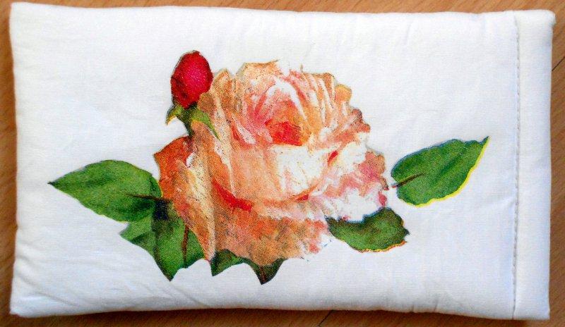 hübsches Brillenetui romantische Rose