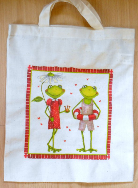 cotton bag funny frogs