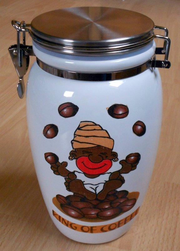 funny ceramic hoard box King of coffee
