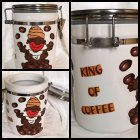 lustige Keramik Vorratsdose King of Coffee