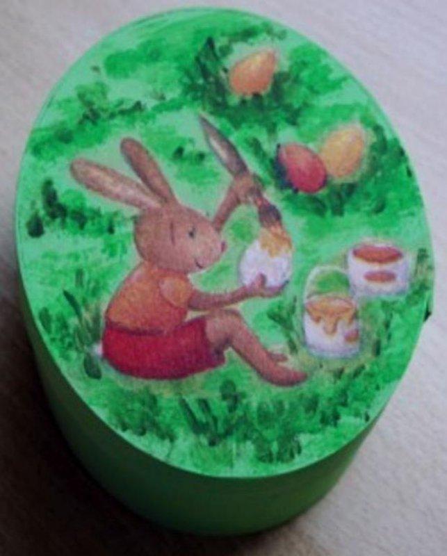 funny easter gift box egg painting rabbit
