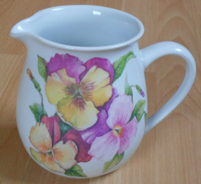 romantic porcelain mug pansies