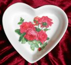 cute heart porcellain dish romantic roses