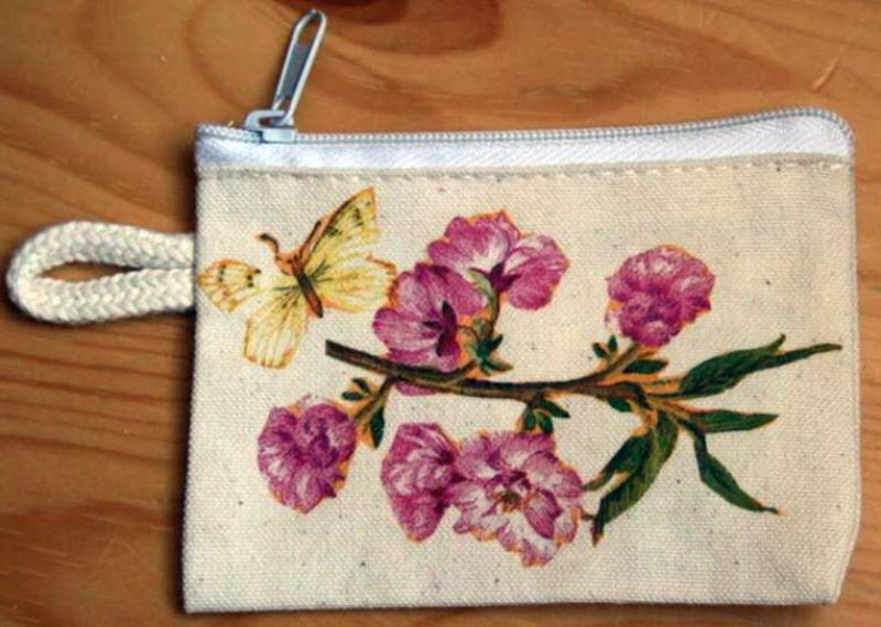 nice floral case for keys - flowered branch