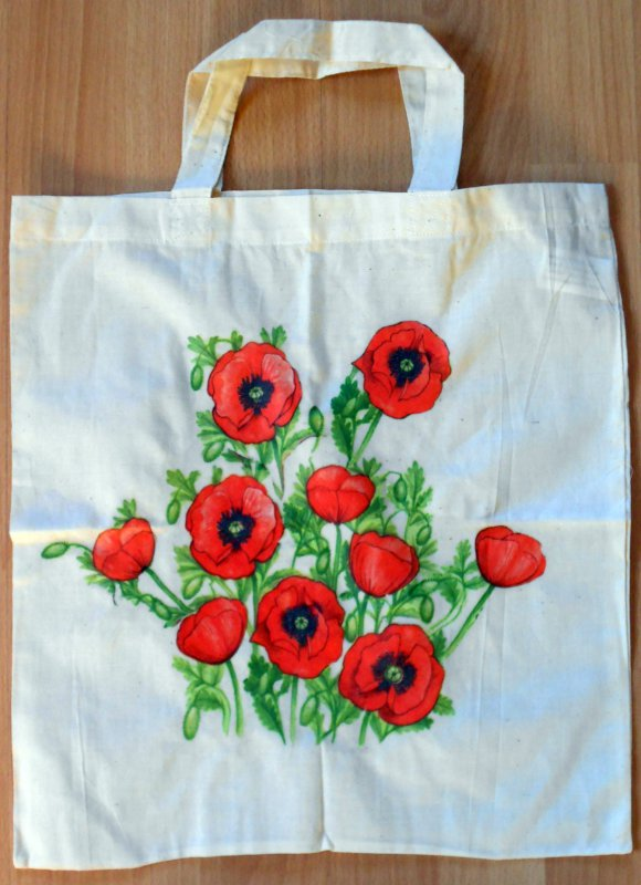 nice shopping bag poppies
