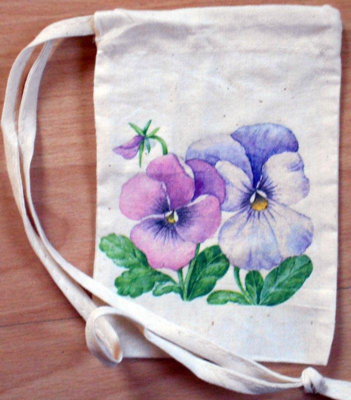 cute little floral sac pansies