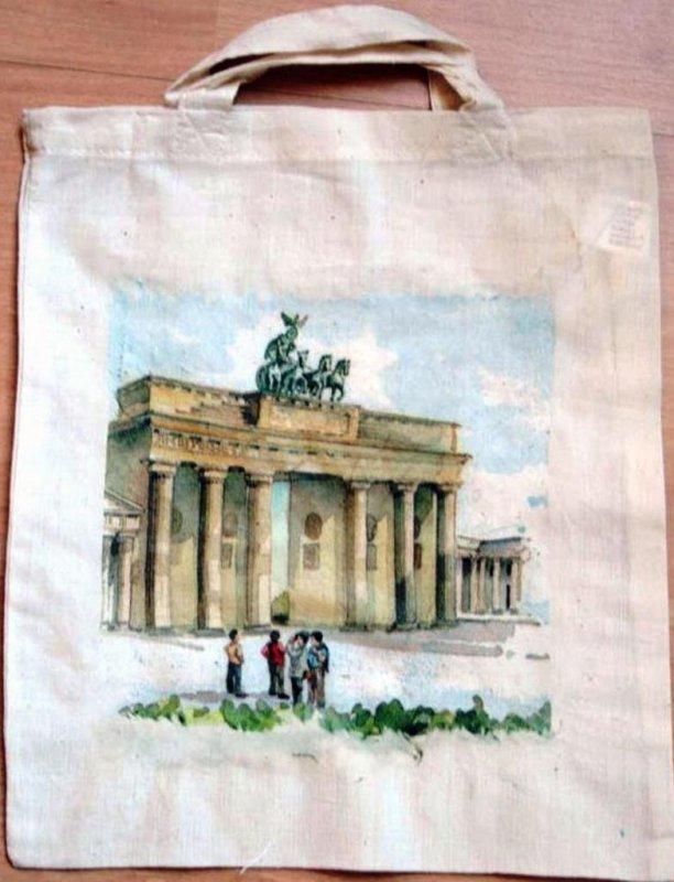 cotton bag funny city berlin brandenburger tor