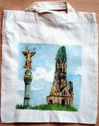 Baumwolltasche Berlin - Gedächtniskirche und Friedensengel