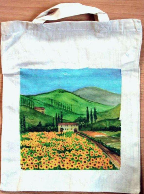 cotton bag Toscana landscape