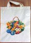 Baumwolltasche Osterkorb mit Blumen und Ostereiern