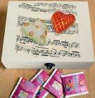 ethno tea bag box heart of music