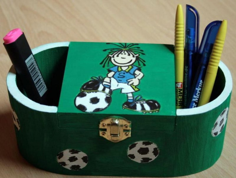 cool football pencil box