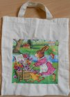 funny cotton bag nice easter rabbit transporting flowers