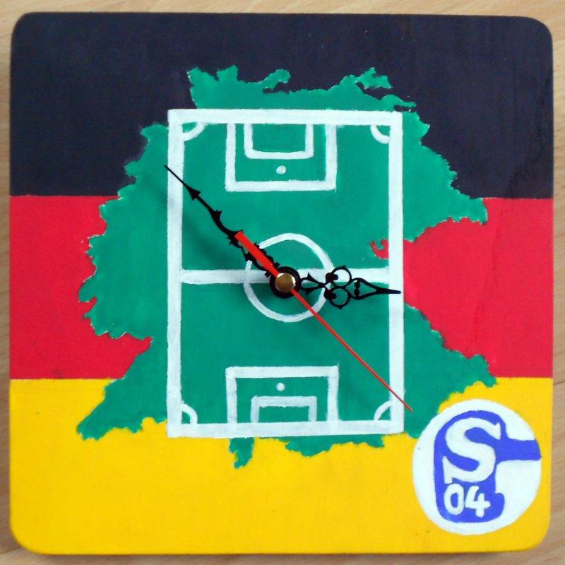 Fussball Wanduhr Deutschland - Schalke