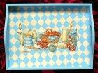 tablett with bavarian breakfast