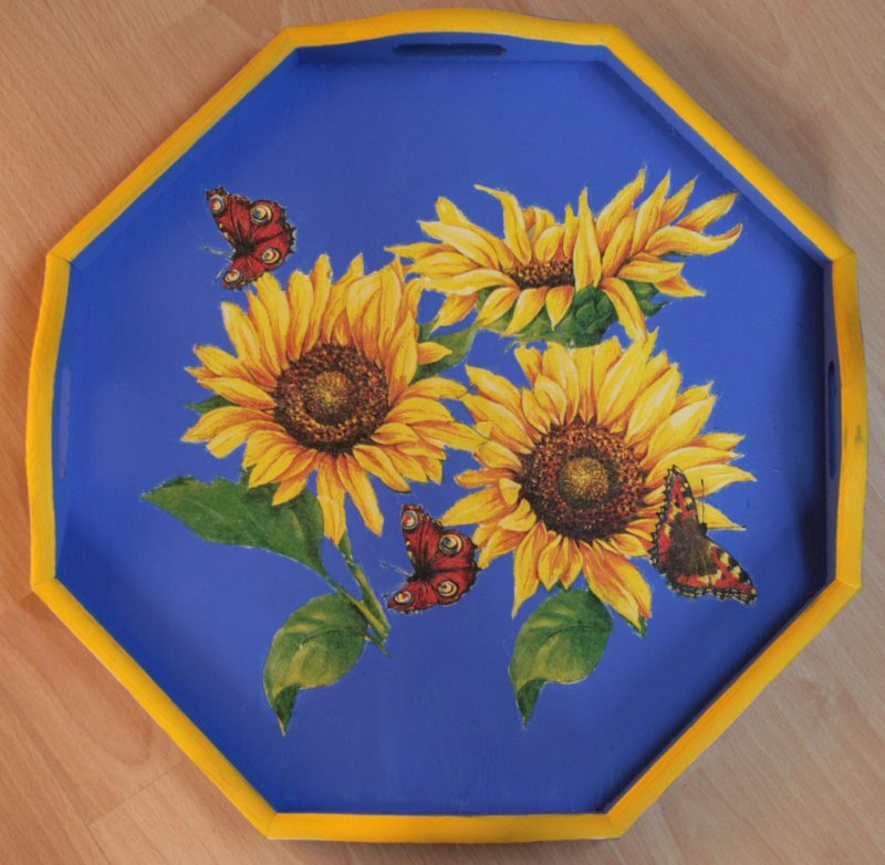 Tablett Sonnenblumen