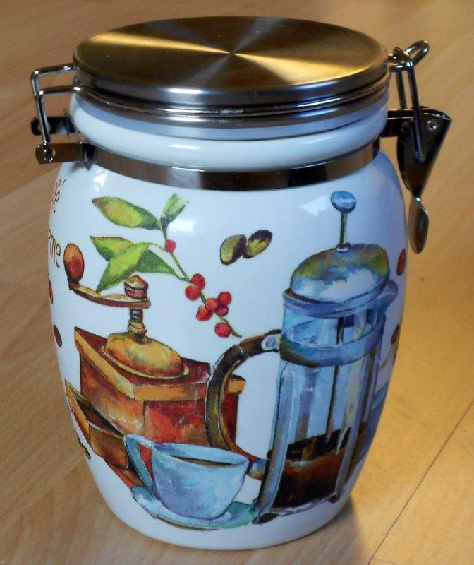 mediterrane kleine Keramik Vorratsdose Cafea Arabi